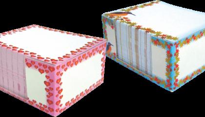 Cubo Anotação com Papel Desenhado