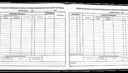 Modelo 1 Registro de Nota Fiscal e Utilização de Documentos